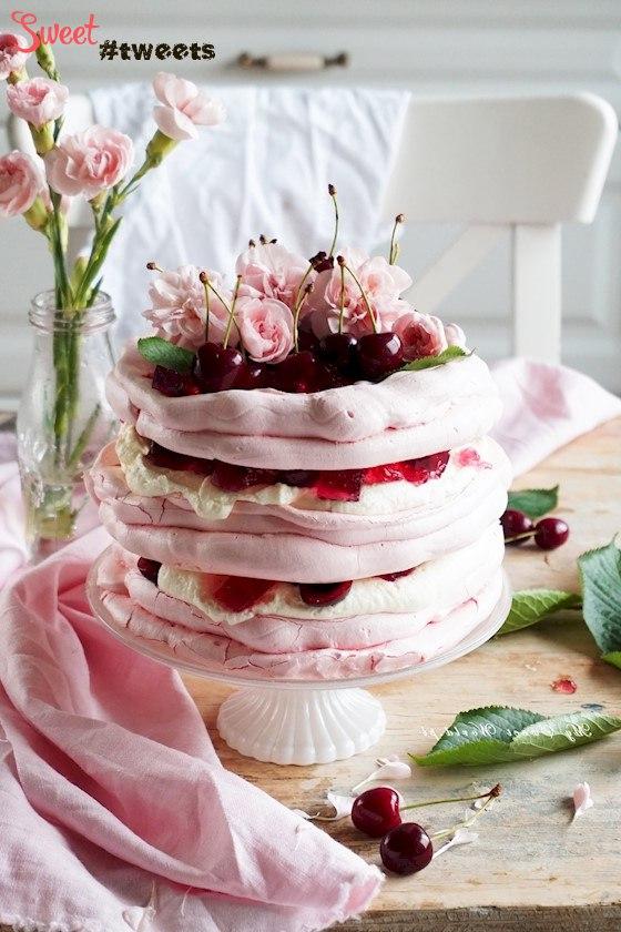 Торт желейный с безе
